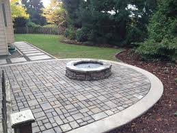 Paver Patios With Fire Pit by Paver Patio Gas Firepit And Cip Pavers