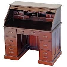 bureau americain bureau américain à cylindre en acajou boston meuble de style
