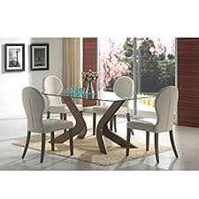 amazon com steve silver company berkley glass top dining table