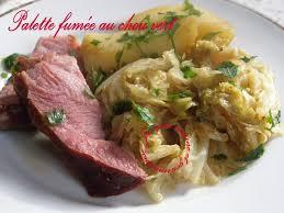 cuisiner la palette de porc palette de porc fumée chou vert pommes de terre plat unique et
