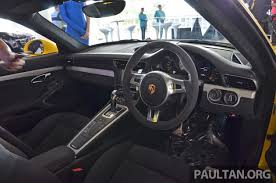 porsche gt3 malaysia porsche 911 gt3 launched in malaysia rm1 23 mil