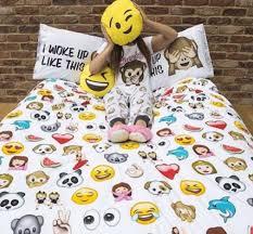 emoji expresions duvet cover set size single double primark