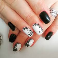 Migi Nail Art Design Ideas Black White Monochrome Nail Art Design For Beginners Diy Easy 40