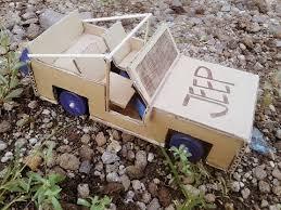 membuat miniatur mobil dari kardus bikin mobil jeep mainan dari kardus