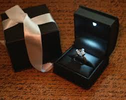 wedding rings in box engagement ring box etsy