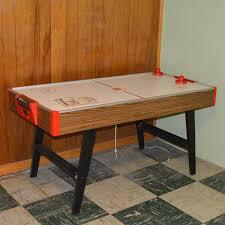 Air Hockey Coffee Table 1970s Brunswick Challenger Air Hockey Table Ebth