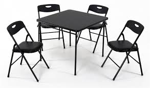 fold away card table cosco folding table and chairs facil furniture