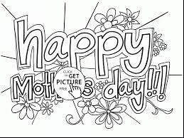 magnificent printable mothers day card coloring page with happy