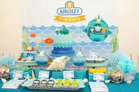 Ocean Cake Decorations Kara U0027s Party Ideas Octonauts Themed Birthday Party Planning