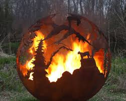 Fire Pit Globe by Nature U0027s Design Fire Pit Gallery High Mountain