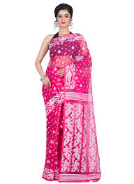 dhakai jamdani buy dhakai jamdani saree in muslin at 30 in india