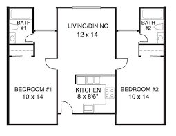 two bedroom two bath floor plans house plans 2 bedrooms 2 bathrooms new home plans design