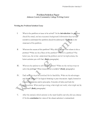 what is a problem solution essay