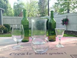 easy spray painted glass centerpieces hometalk