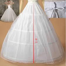 wedding dress hoops petticoat underskirt bridal free size white 3 hoops petticoats for
