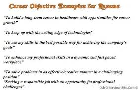 Objectives Examples For Resumes by Objectives For Resumes Examples U2013 Resume Examples