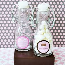 quinceanera favors sweet sixteen or 15 personalized mini glass bottles