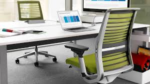 Computer Chair Desk Think Ergonomic U0026 Adjustable Office Chair Steelcase