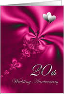 20th wedding anniversary 20th anniversary invitations from greeting card universe