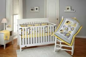Yellow Gray Nursery Decor Baby Nursery Decor Classic Looking Yellow And Gray Baby Nursery