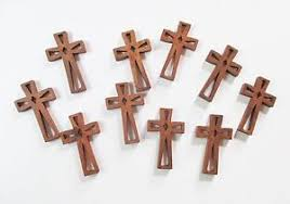 small wood crosses wholesale lot of 50 small wood crosses with decorative cutouts ebay