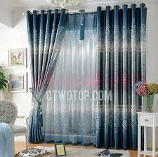 Blue Floral Curtains Blackout Floral Beautiful Navy Blue Bedroom Curtains