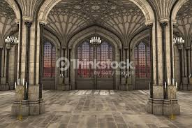 Cathedral Interior Gothic Cathedral Interior 3d Illustration Stock Photo Thinkstock