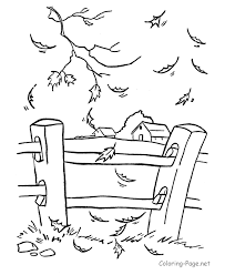 drawing fall leaves fence farm background good