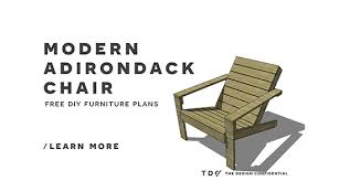 Adirondack Chairs Blueprints Free Diy Furniture Plans How To Build An Outdoor Modern