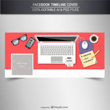 facebook timeline cover template vector free download