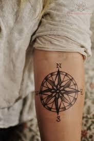 awesome nautical compass for arm tattoomagz