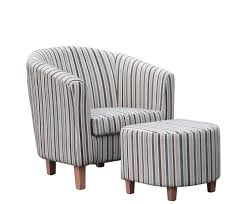 Tub Chairs Falkirk Duck Egg Blue Striped Tub Chair And Stool