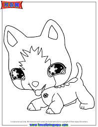 littlest pet shop coloring pages littlest pet shop dog coloring