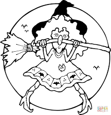 witch coloring pages free coloring pages