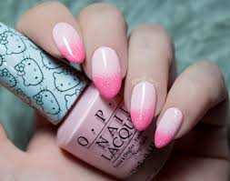 pink gradient nail art tina tech