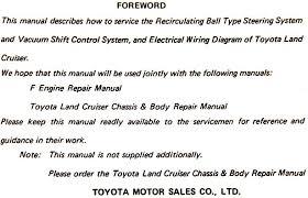 original toyota repair manuals engine body chassis