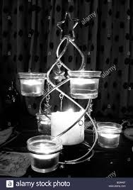 a christmas candle table decoration stock photo royalty free