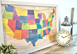 visited states map folkart ultra dye diy united states map the cards we drew