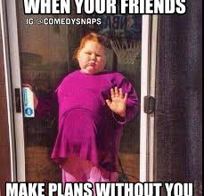 Memes To Make Fun Of Friends - when your friends make plans and didn t tell you funny pinterest