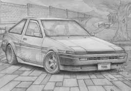 drift cars drawings drawing toyota trueno ae86 by tougedrifting85 on deviantart