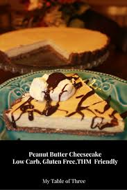peanut butter cheesecake low carb sugar free gluten free thm s