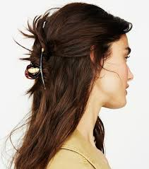claw hair hairstyles half up hair ideas byrdie uk