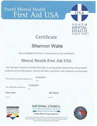 Mental Health Resumes Credentials Shannon Waite