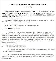 6 free software license agreement templates excel pdf