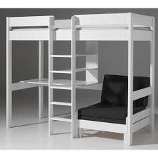 lit mezzanine avec bureau pour ado lit mezzanine avec fauteuil pino blanc