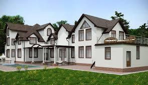 Large Cottage House Plans Exteriors Narrow Lot Plans House For Lots Simple Farmhouse Home