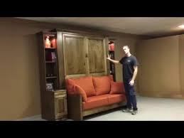 Murphy Sofa Bed by Jordan Murphy Bed With Sofa Youtube