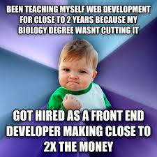 Web Developer Meme - livememe com success kid