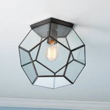 Glass Bathroom Light Shades Clear Glass Prism Pentagon Ceiling Light Shades Of Light