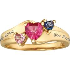 gold mothers rings keepsake personalized family jewelry ring available in
